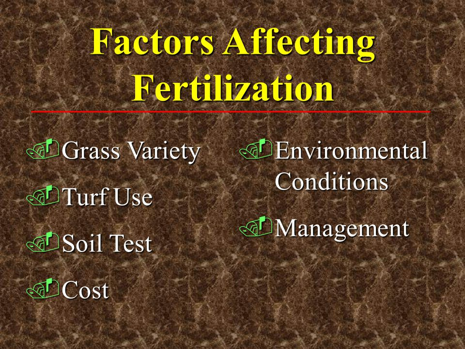 Factors Affecting Fertilization