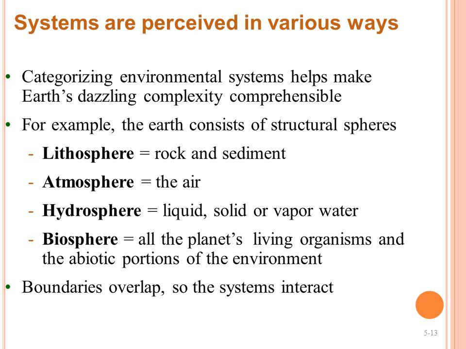 Systems are perceived in various ways