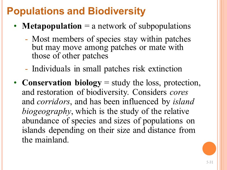 Populations and Biodiversity