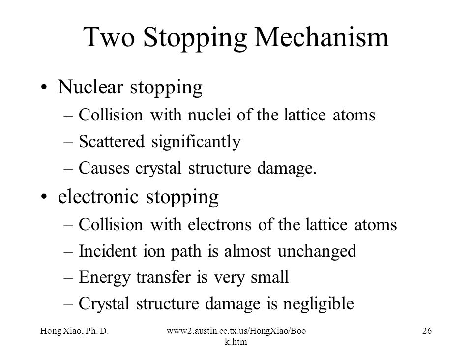 Two Stopping Mechanism