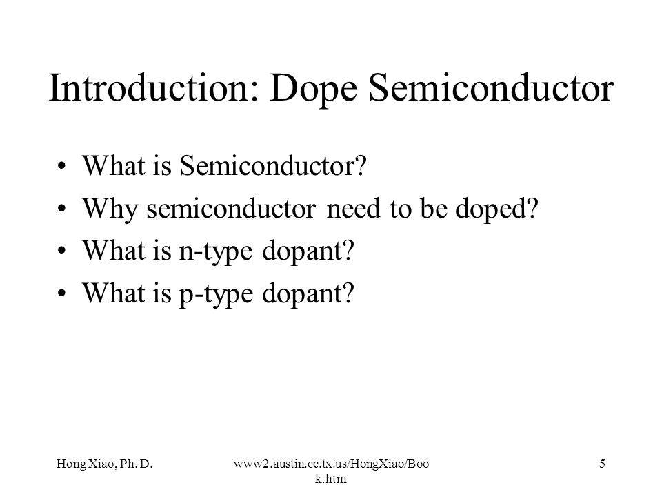 Introduction: Dope Semiconductor