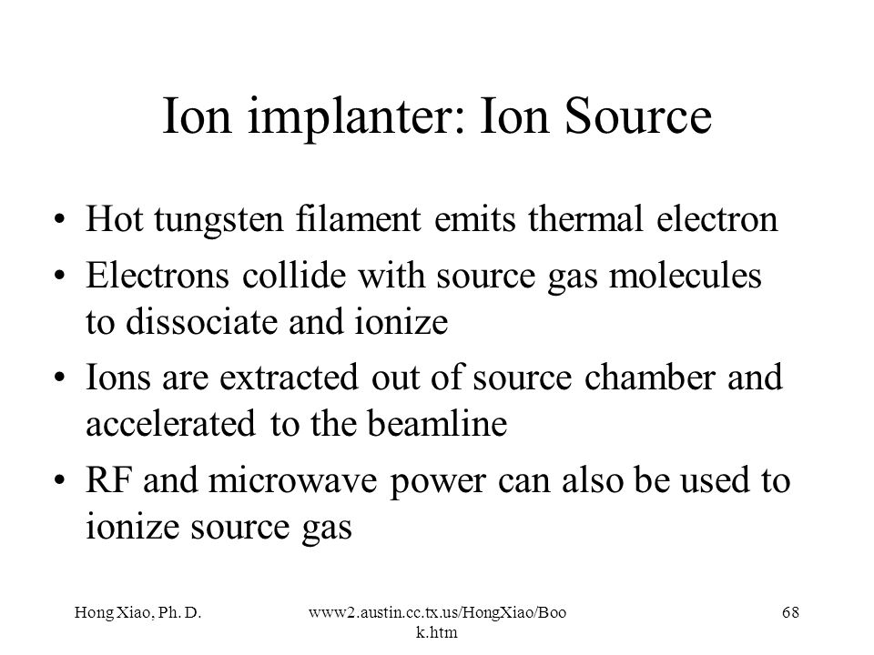 Ion implanter: Ion Source