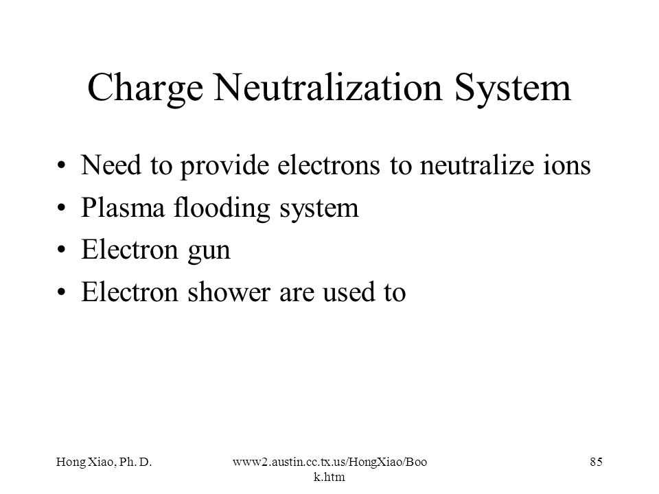 Charge Neutralization System