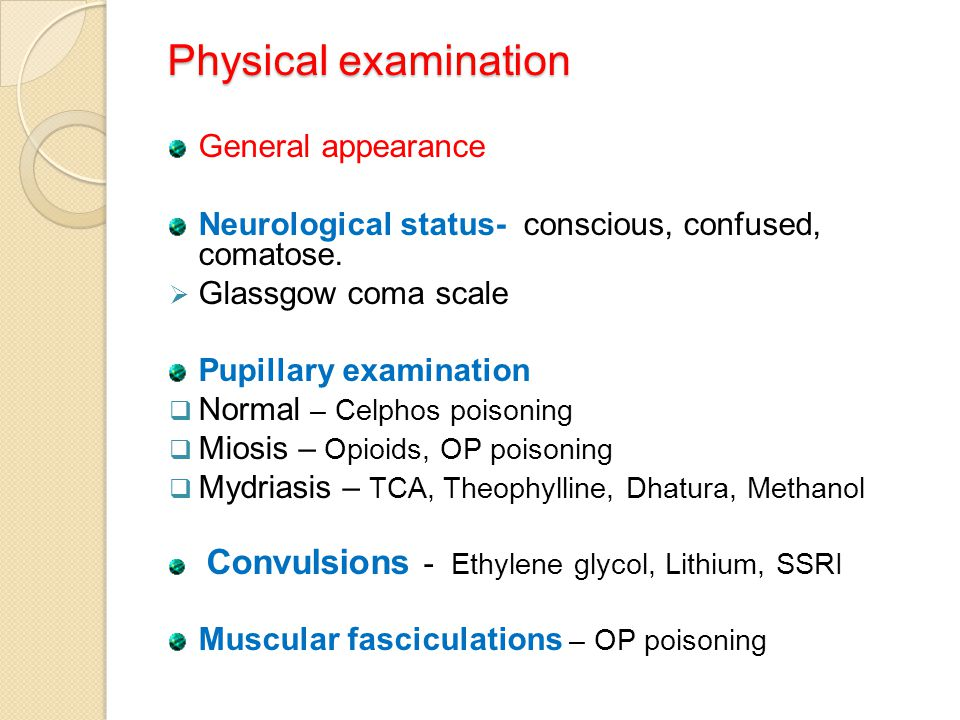 Physical examination General appearance