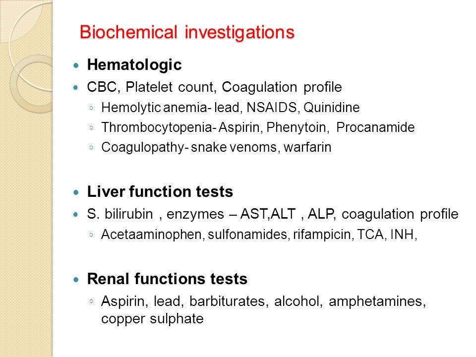 Biochemical investigations