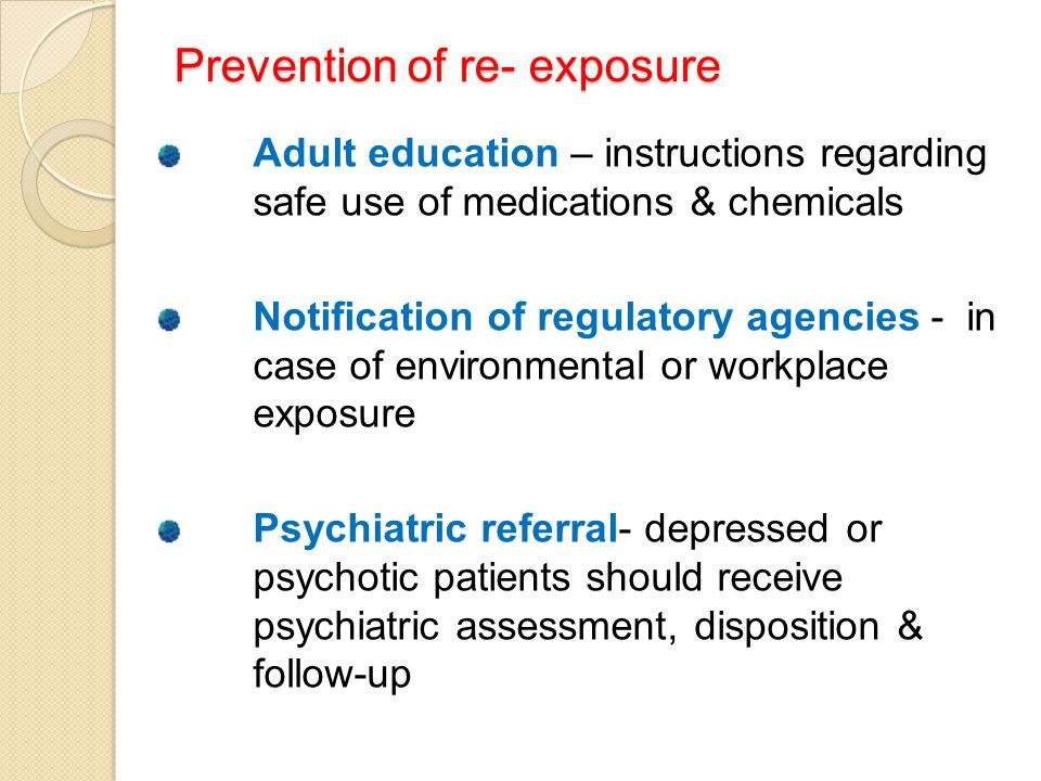 Prevention of re- exposure