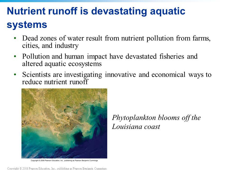 Nutrient runoff is devastating aquatic systems