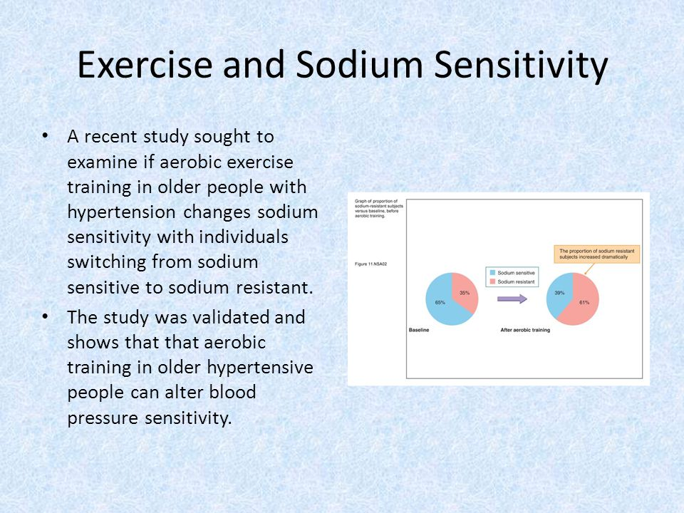 Exercise and Sodium Sensitivity