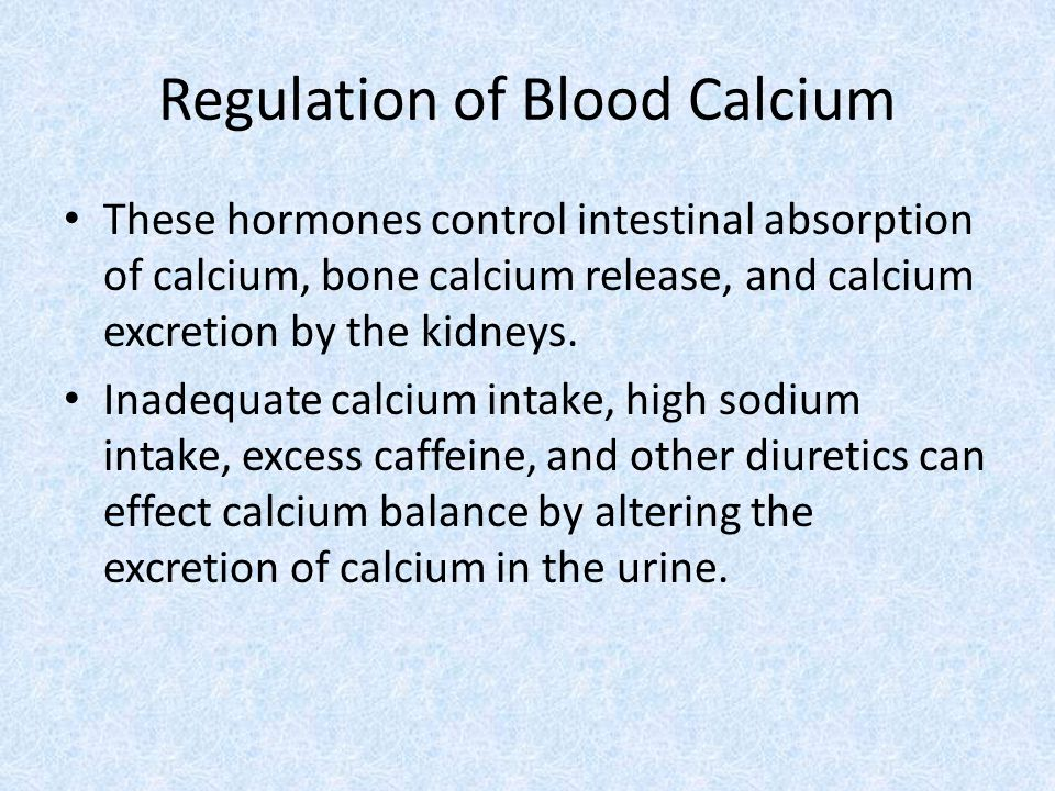 Regulation of Blood Calcium