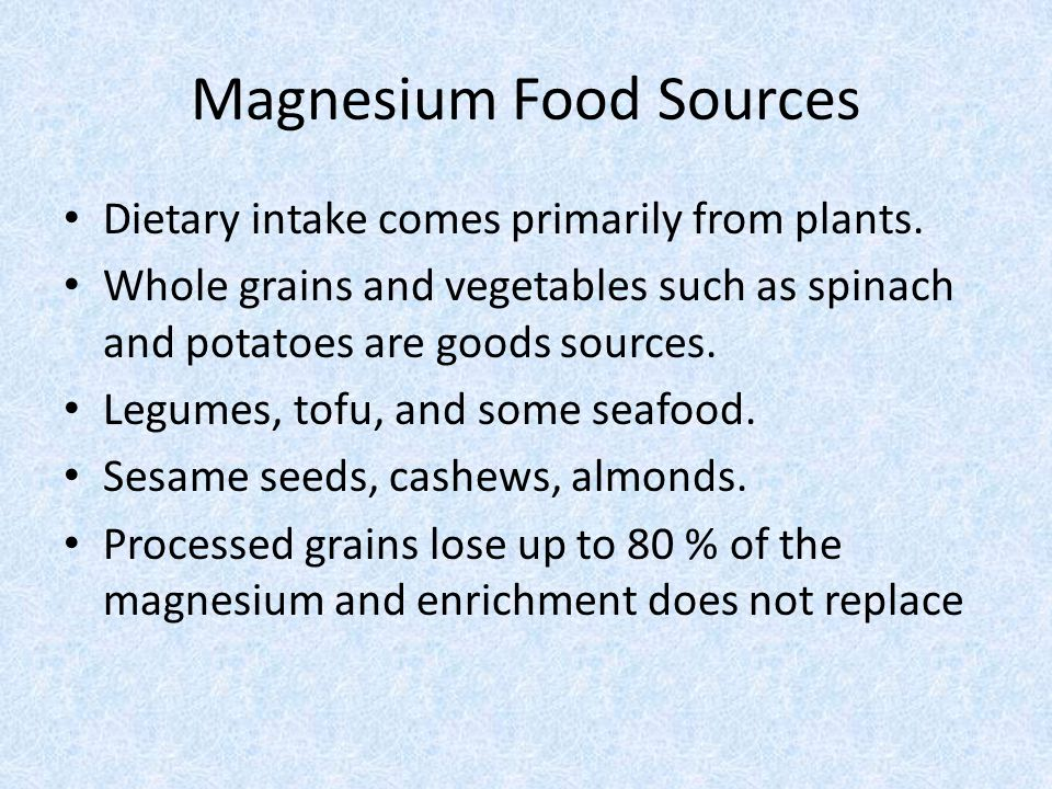 Magnesium Food Sources