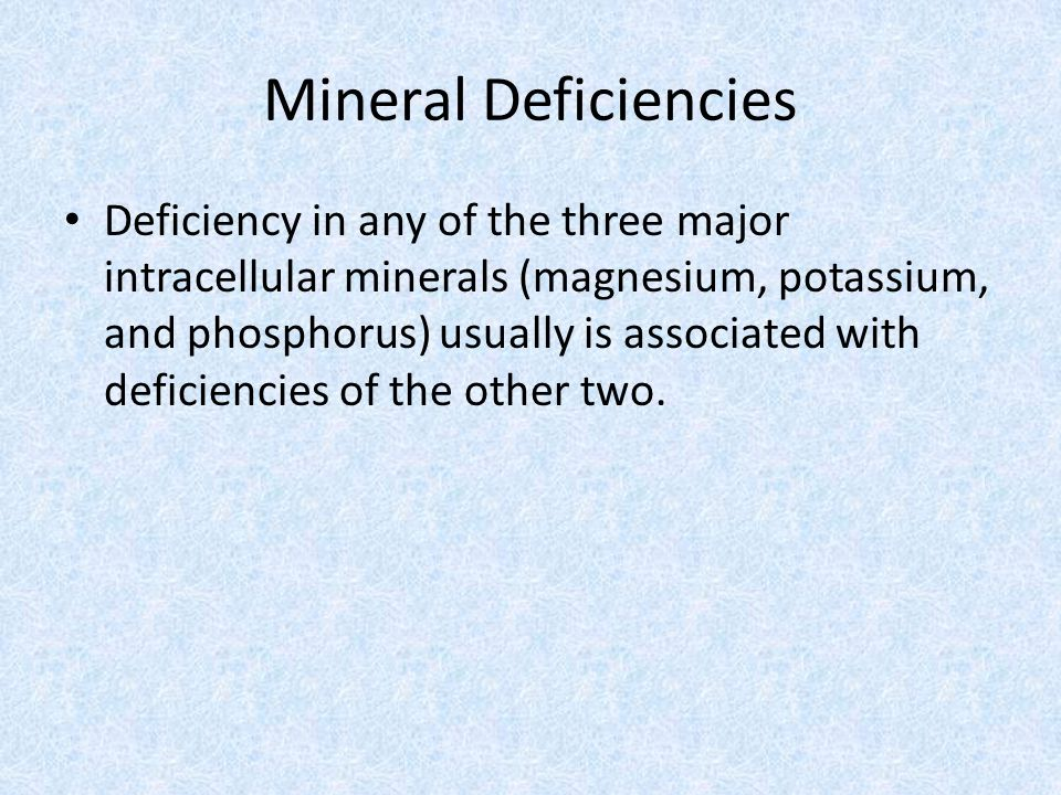 Mineral Deficiencies