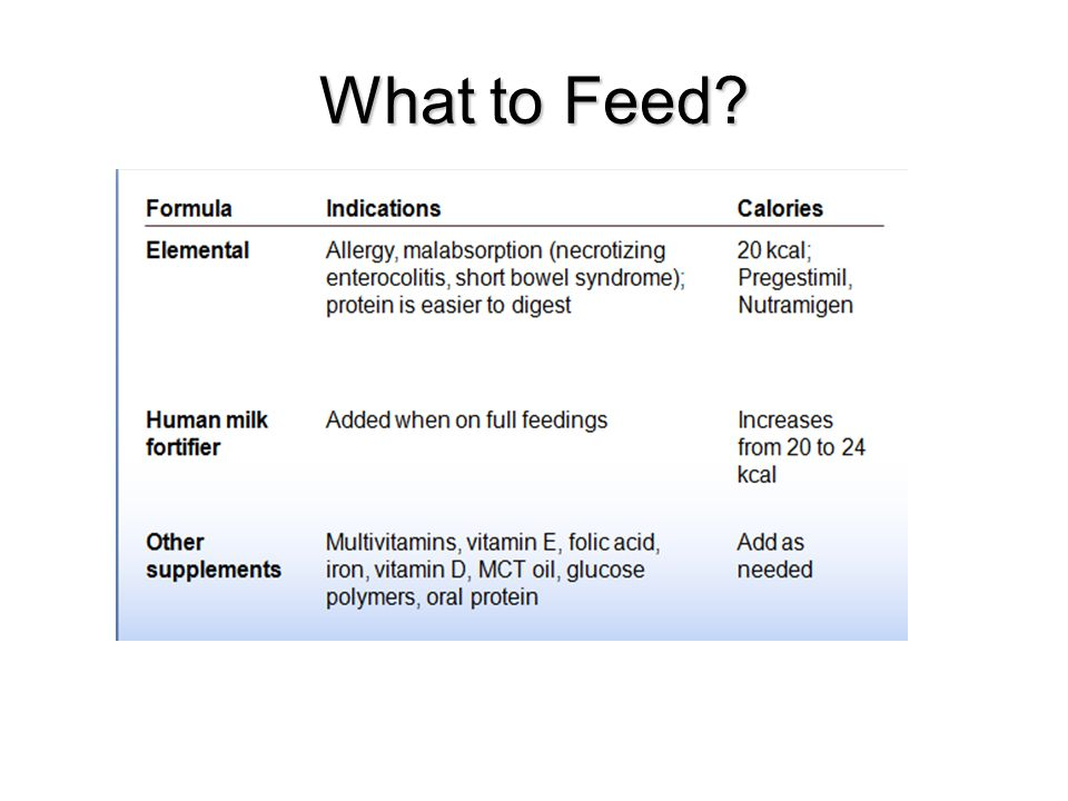 What to Feed