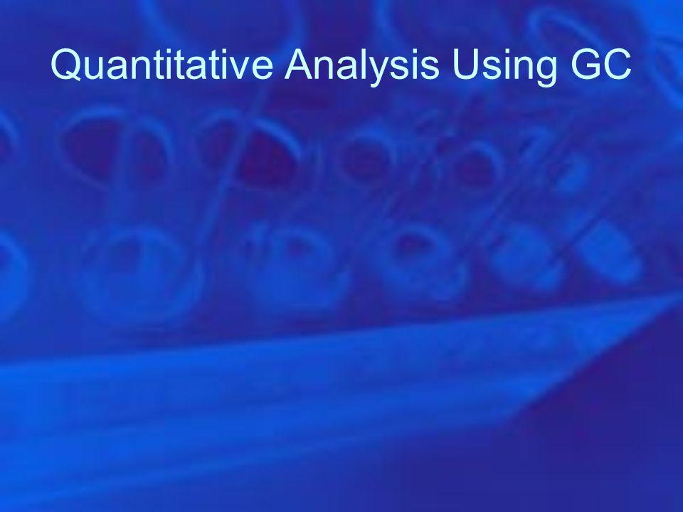 Quantitative Analysis Using GC