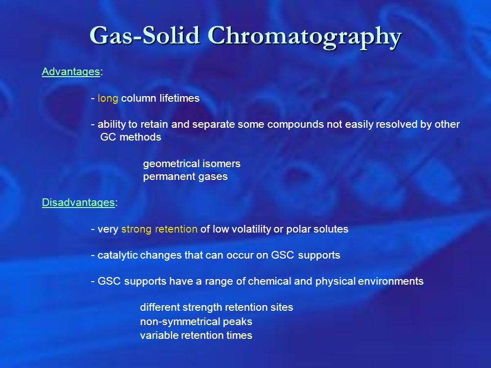 Gas-Solid Chromatography