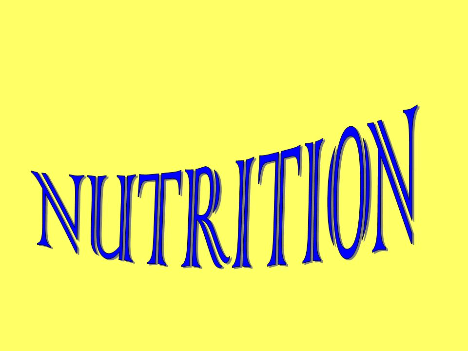 NUTRITION