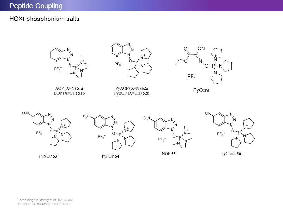 Peptide Coupling HOXt-phosphonium salts