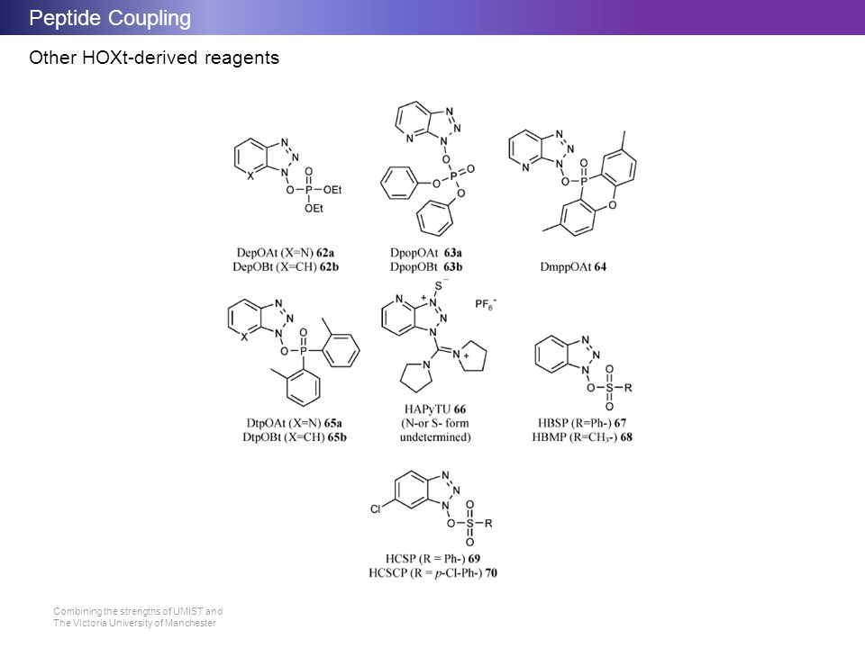 Peptide Coupling Other HOXt-derived reagents