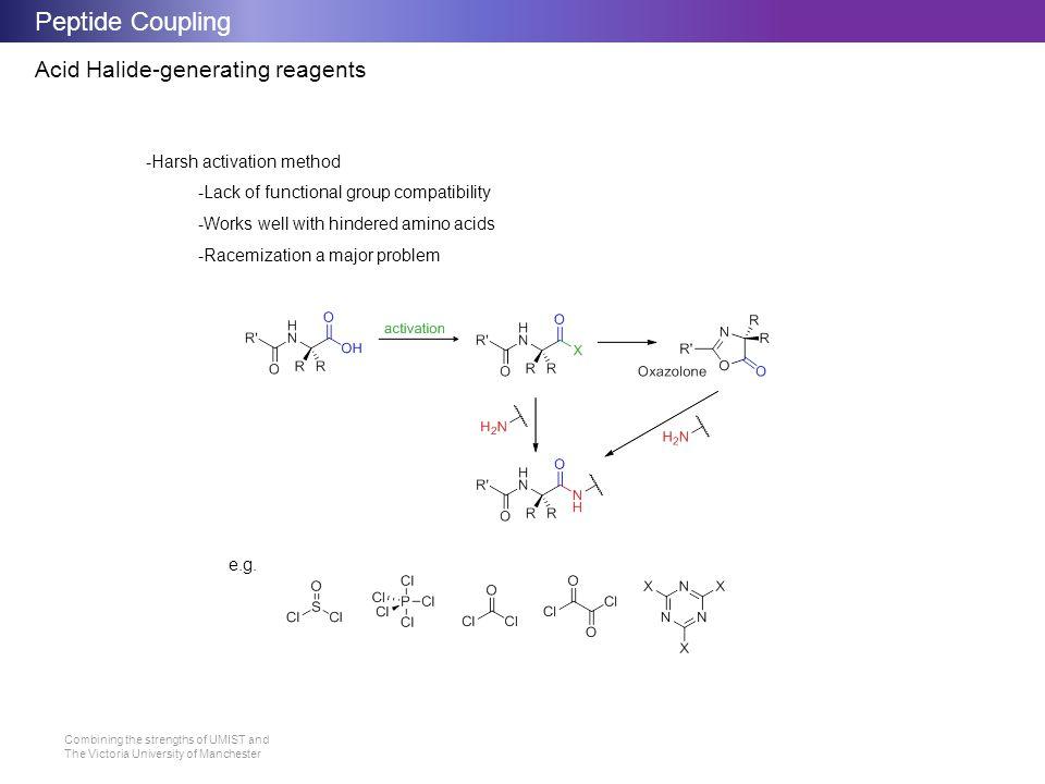 Peptide Coupling Acid Halide-generating reagents