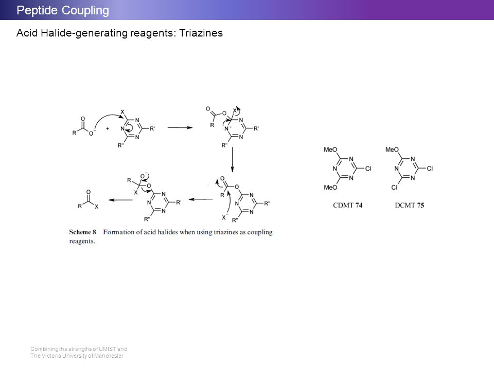 Peptide Coupling Acid Halide-generating reagents: Triazines