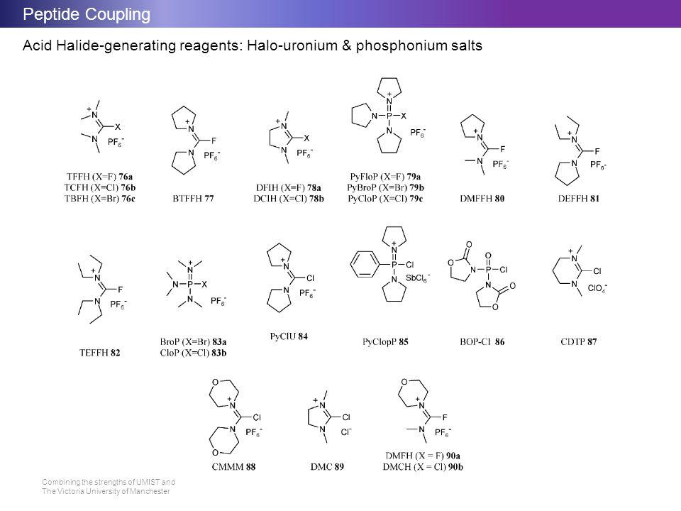 Peptide Coupling Acid Halide-generating reagents: Halo-uronium & phosphonium salts
