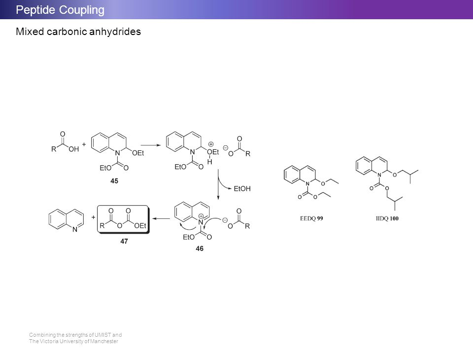 Peptide Coupling Mixed carbonic anhydrides