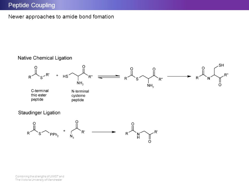 Peptide Coupling Newer approaches to amide bond fomation