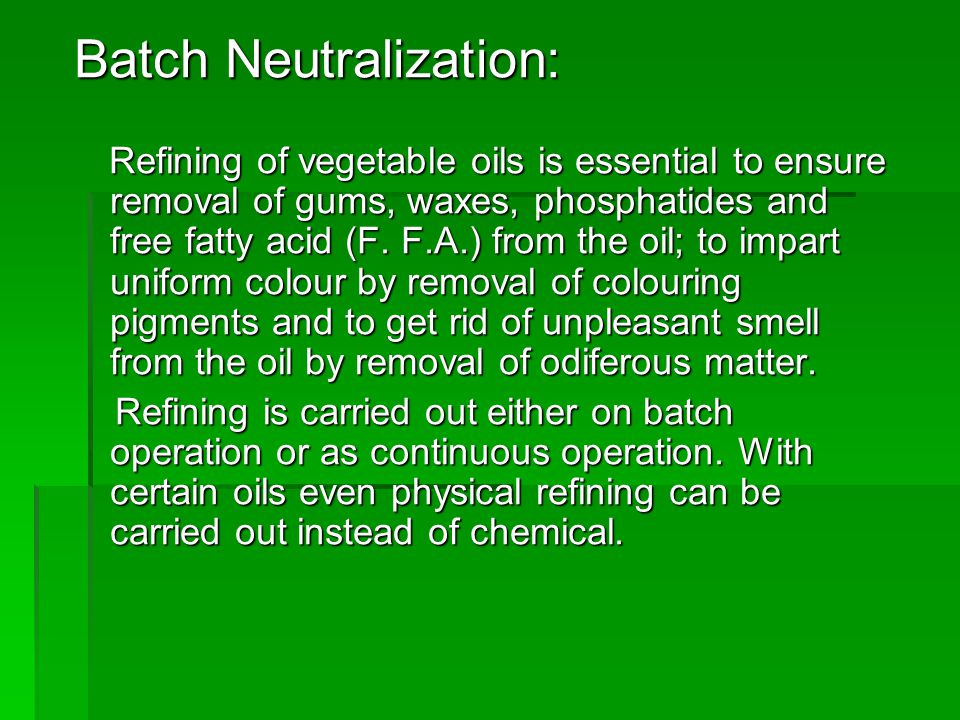 Batch Neutralization: