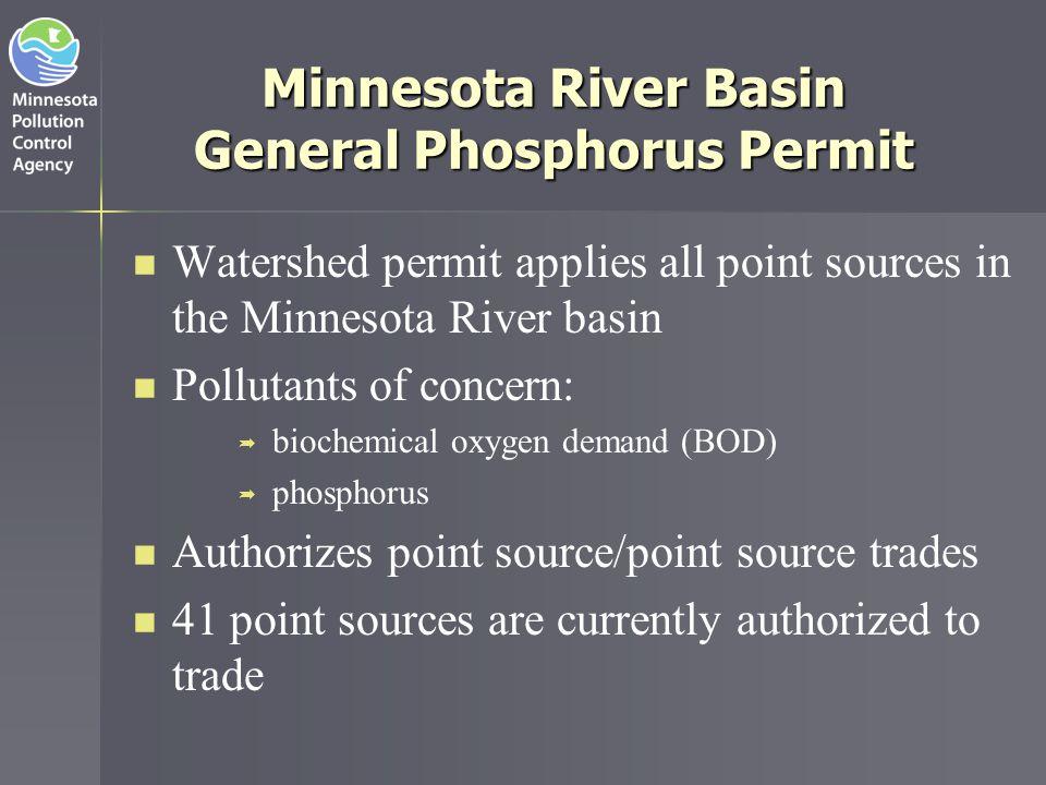 Minnesota River Basin General Phosphorus Permit