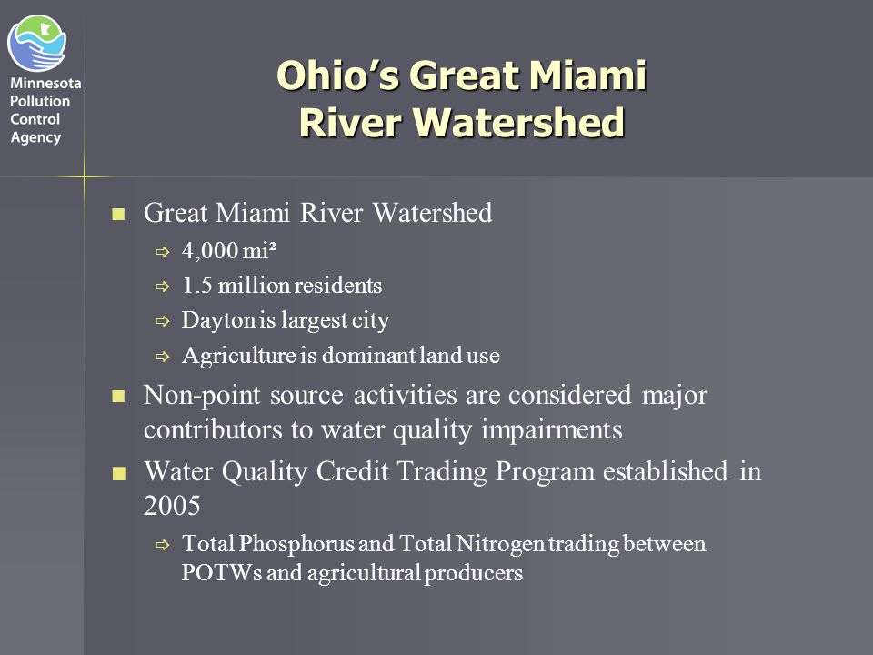 Ohio's Great Miami River Watershed