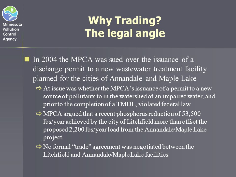 Why Trading The legal angle