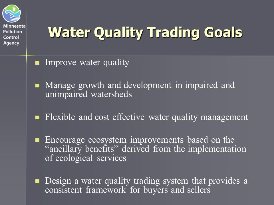 Water Quality Trading Goals
