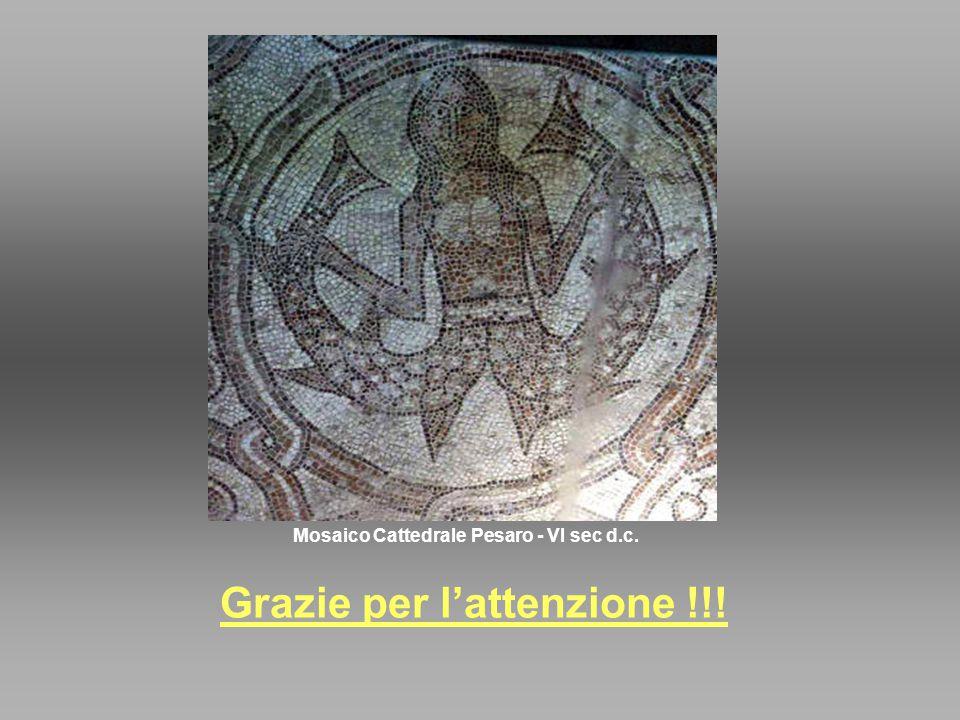 Mosaico Cattedrale Pesaro - VI sec d.c. Grazie per l'attenzione !!!