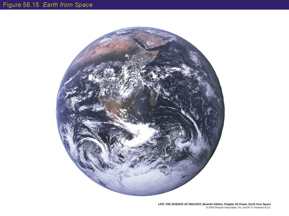 Figure 58.15 Earth from Space
