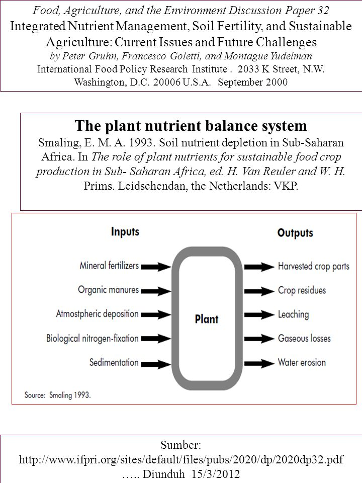 The plant nutrient balance system
