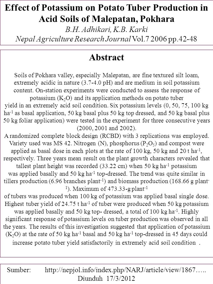 Nepal Agriculture Research Journal Vol.7 2006 pp.42-48