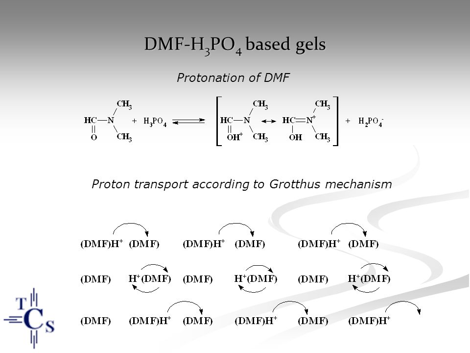 Proton transport according to Grotthus mechanism