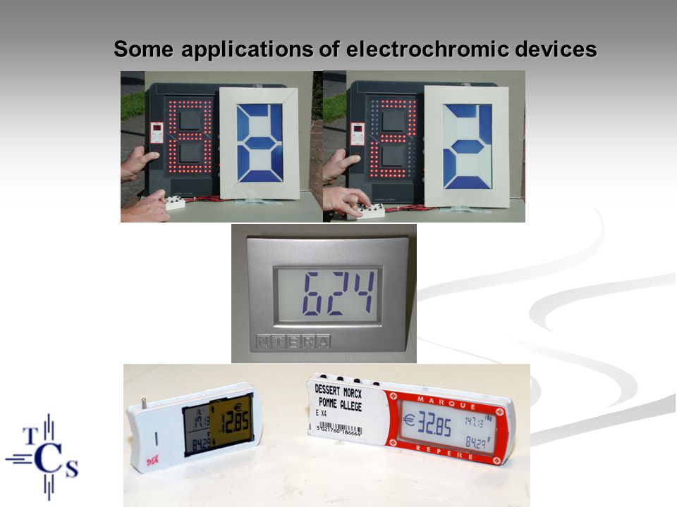 Some applications of electrochromic devices