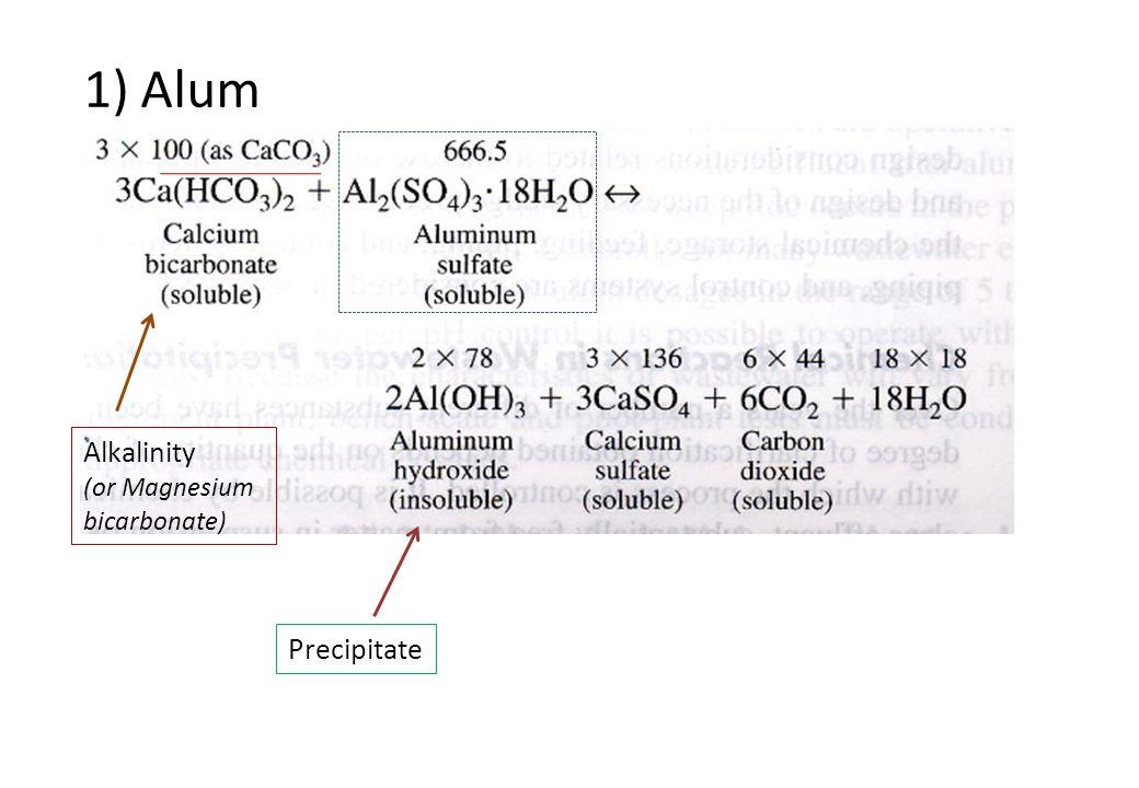 1) Alum Alkalinity (or Magnesium bicarbonate) Precipitate