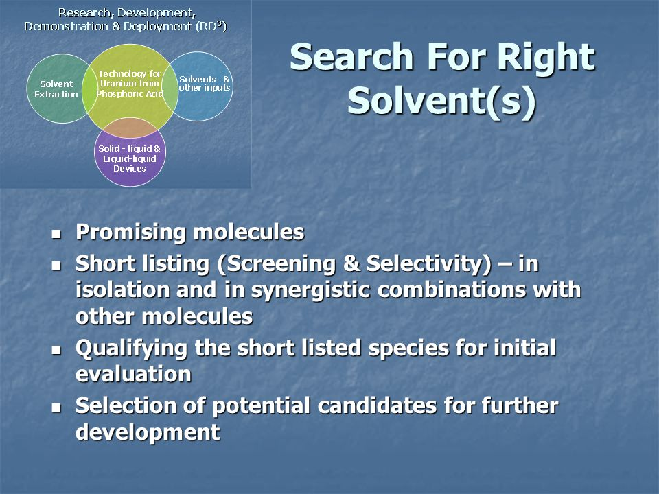 Search For Right Solvent(s)