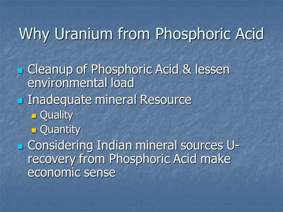 Why Uranium from Phosphoric Acid