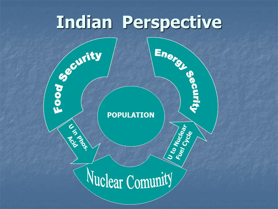 Indian Perspective Energy Security Food Security Nuclear Comunity