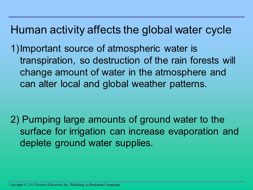 Human activity affects the global water cycle