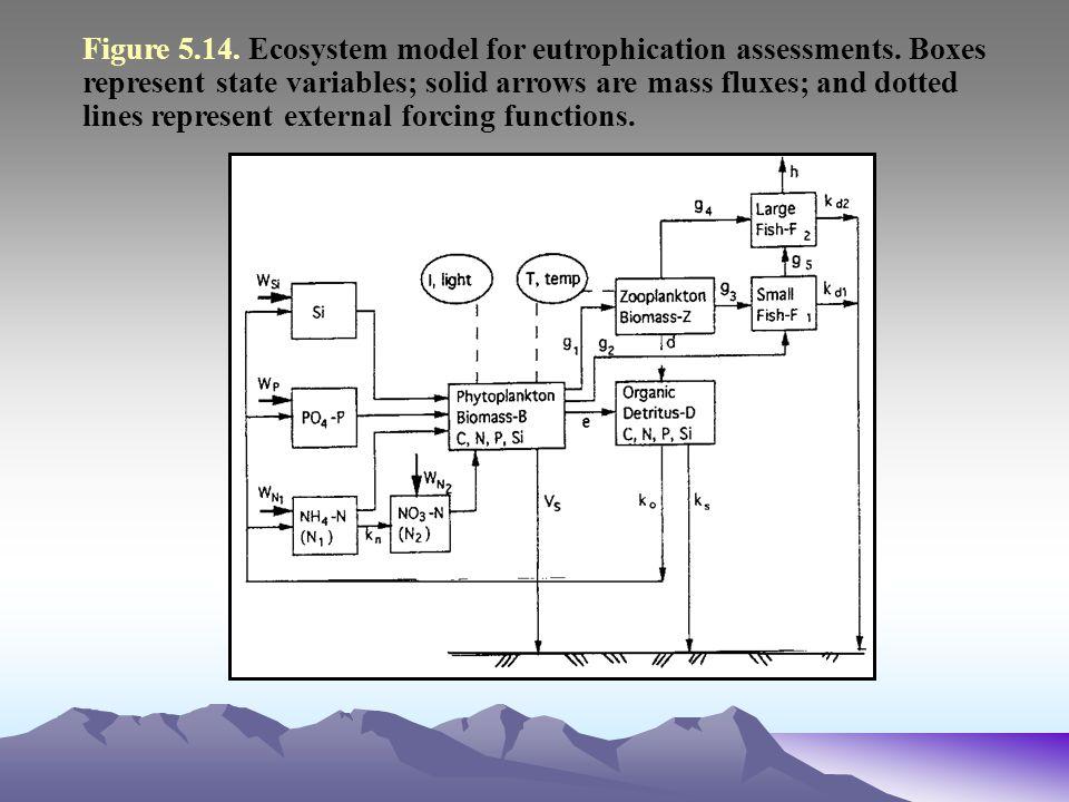 Figure 5. 14. Ecosystem model for eutrophication assessments