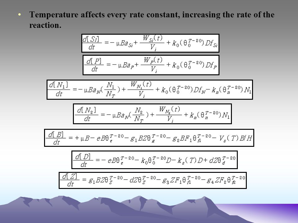 Temperature affects every rate constant, increasing the rate of the reaction.