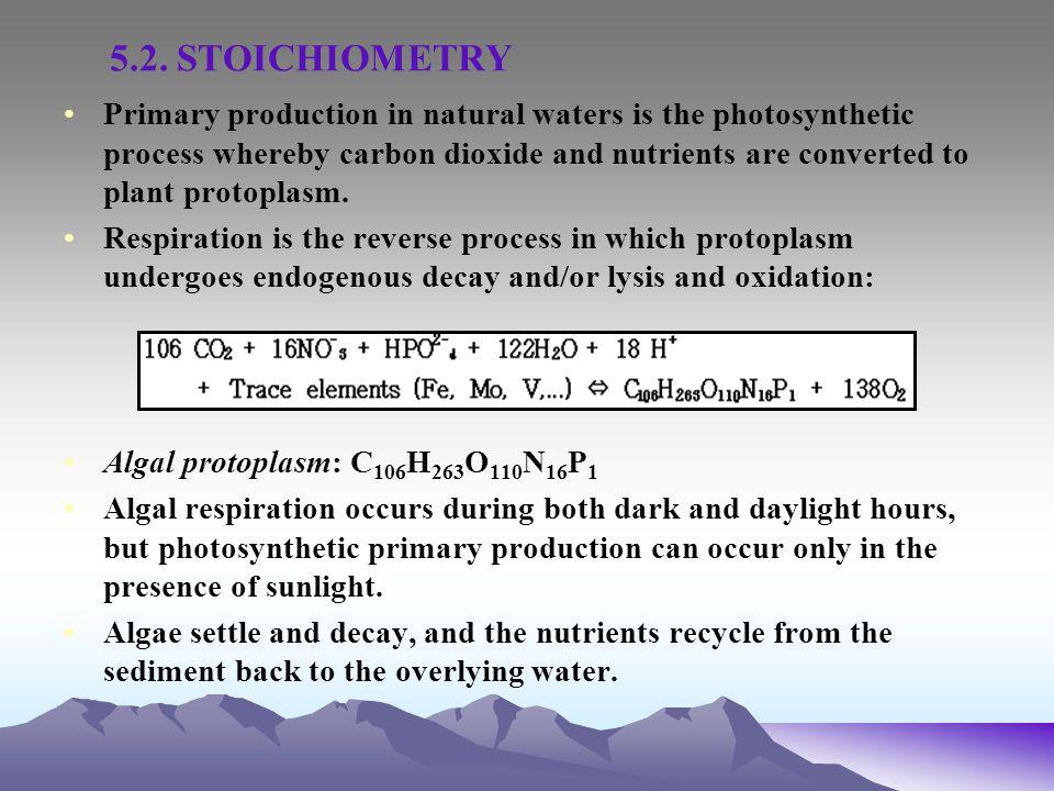 5.2. STOICHIOMETRY