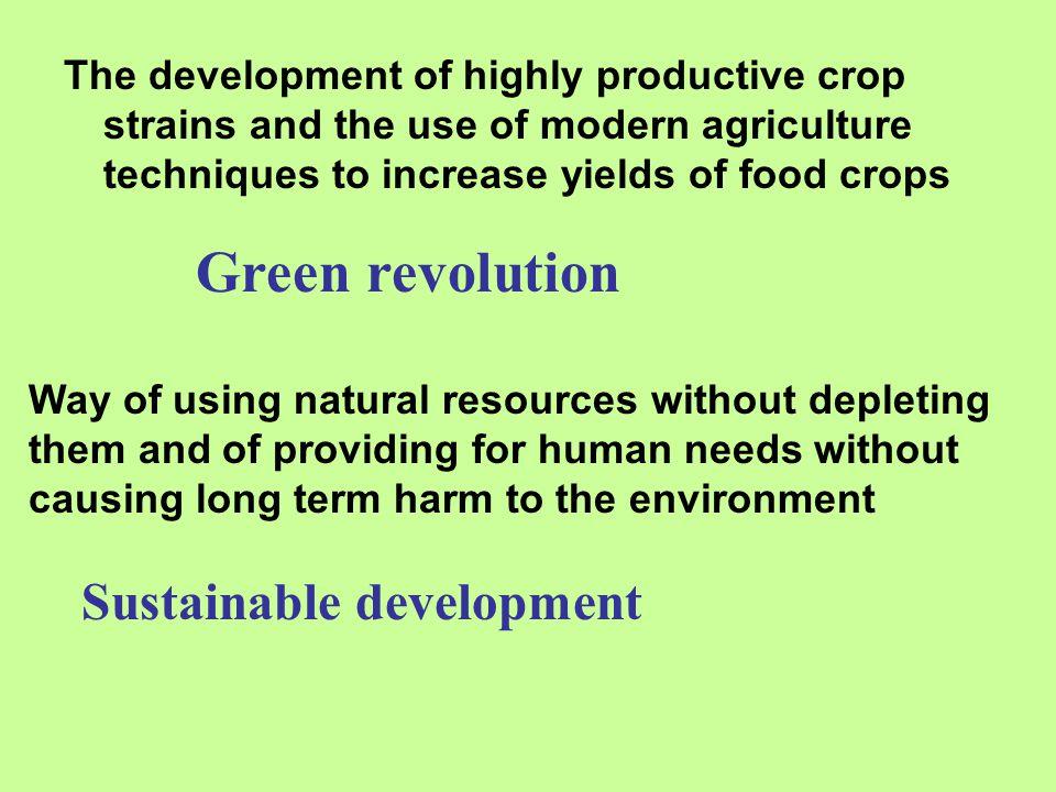 Green revolution Sustainable development