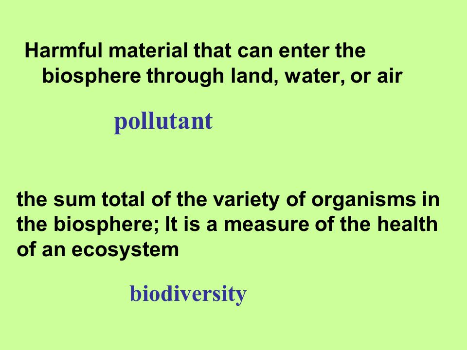 pollutant biodiversity