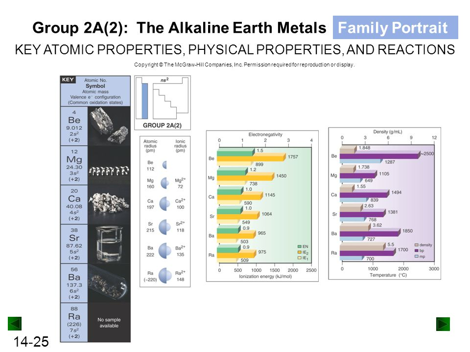 Group 2A(2): The Alkaline Earth Metals Family Portrait