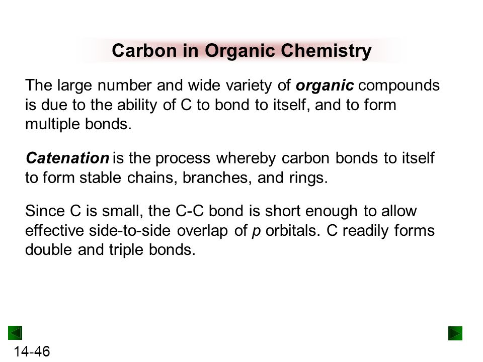 Carbon in Organic Chemistry