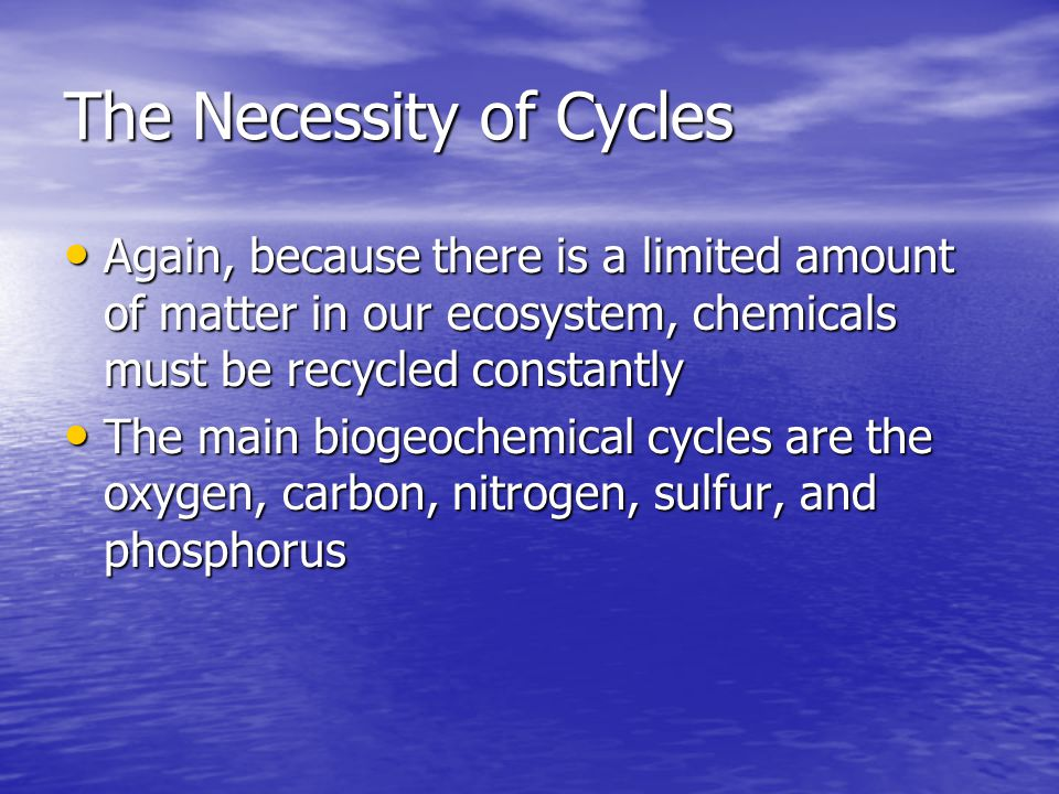 The Necessity of Cycles